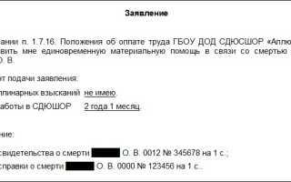 Материальная помощь в связи со смертью близкого родственника: уплата НДФЛ